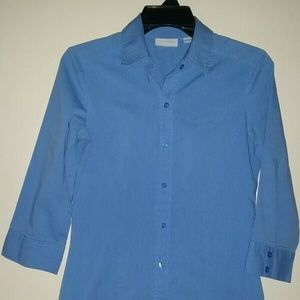 New York & CO. Stretch 3/4 Sleeve Blouse